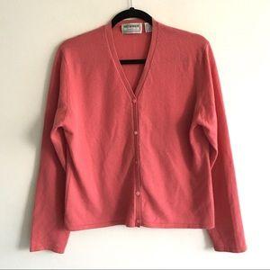 HOLT RENFREW Cashmere Button Front Cardigan XL